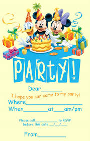 Birthday Invitation Card Maker Disney Birthday Invitations U2013 Gangcraft Net