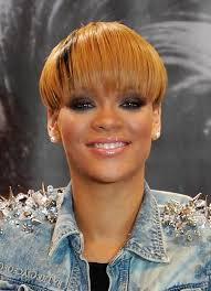 hairstyles for straight across bangs rihanna short straight bowl cut with straight across bangs
