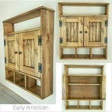 medicine cabinet bath storage cabinet hanging cabinet shabby