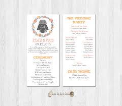 wedding program wars wedding program darth vader printable
