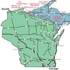 up michigan map ski michigan peninsula map