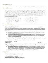 Example Of Resume In English Sample Of Esl Teacher Cv