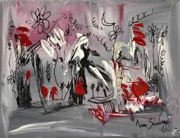 Tableau Triptyque Contemporain by Tableau Abstrait Contemporain Gris Noir Blanc Rouge Moderne