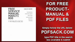 free service manual maruti 800 video dailymotion