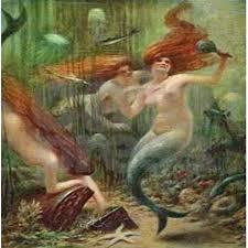Vintage Mermaid Shower Curtain - vintage mermaid treasure chest shower curtain by rebeccakorpita
