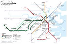 Washington Airport Map by Boston Rapid Transit Map No Buses U2013 Transit Maps Store