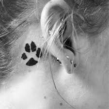 small ear designs paw print design idea