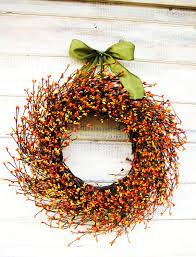 thanksgiving wreaths diy fall wreath fall decor autumn wreath orange u0026 yellow berry