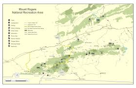Mt Washington Map by George Washington U0026 Jefferson National Forests Mount Rogers