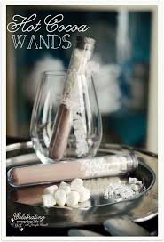 hot cocoa favors hot cocoa wands a fall or winter party favor