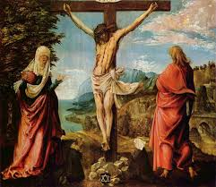 crucifixion scene christ on the cross with mary and john 1515