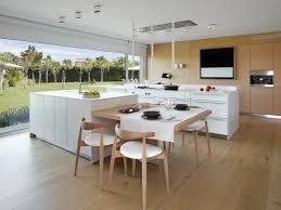 ilot central table cuisine aménager sa cuisine 15 îlots de cuisine avec coin repas intégré