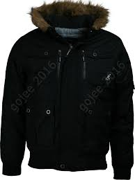mens kangol padded hooded parka jacket bemford faux fur fleece