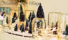 pom pom ornaments u0026 christmas tree villages weeklybite