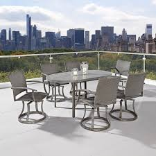 incredible 7 piece patio dining set with swivel napoli collection