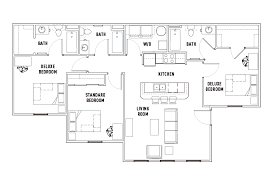 3 bed 3 bath floor plans the province rochester student housing rochester ny