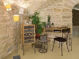 miroir jardin d ulysse bureau 2 tiroirs et 1 niche en bois et pieds métal l100 cm graphic