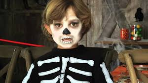 Halloween Skeleton Faces by Halloween Makeup For Kids With Tutorials A Diy Projects