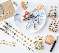masking cuisine food fashion masking set 15mm 7m diy scrapbook