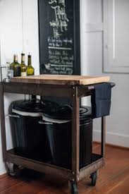 kitchen island cart with stools kitchen islands carts white brick walls rich wooden cabinet metal