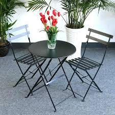 Homebase Bistro Table Metal Bistro Set Ikea Black Metal Alumium Garden Furniture