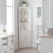 White Corner Bathroom Cabinet Design Cabinet Narrow Bathroom Cabinet For