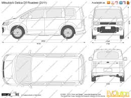 mitsubishi delica interior the blueprints com vector drawing mitsubishi delica d5 roadest