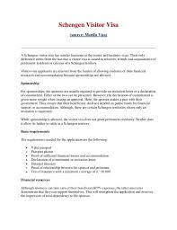 support letter for visa format