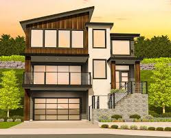 floor plans for sloped lots plan 85184ms modern house plan for a sloping lot architectural