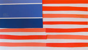 Jasper Johns Three Flags The Chocolate Muffin Tree Patriotic Paint Chip Flags