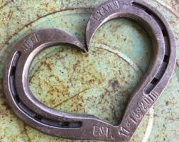 heart shaped horseshoes horseshoe heart iron anniversary gift 6th anniversary gift