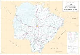ladario nero mato grosso do sul state road map brazil