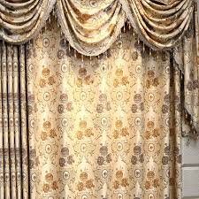 Noble Curtains Embossed Embroidery Floral Champagne Nursery Curtains