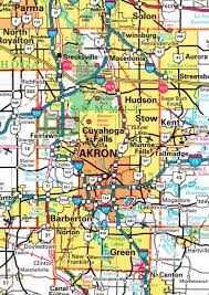 of akron map summit county ohgenweb project map of akron and surrounding towns