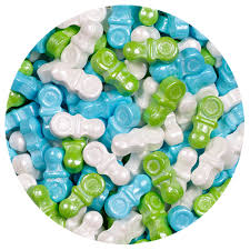 pacifier shaped candy shimmer boy mix pacifiers sweet shapes candies 2 lb bulk bag