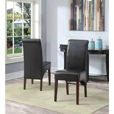 Leather Parsons Chairs Simpli Home Avalon Tanners Brown Faux Leather Parsons Dining Chair