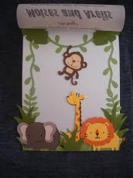 photo diy safari baby shower invitations image