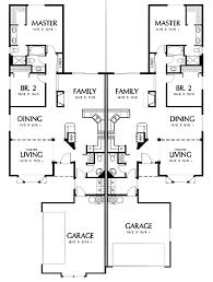 duplex plans with garage in middle floor plannarrow duplex plans with garage in middle venidami us