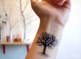 33 unique hippie tree tattoos