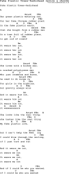 wedding dress chords piano song lyrics for plastic trees radiohead with chords for