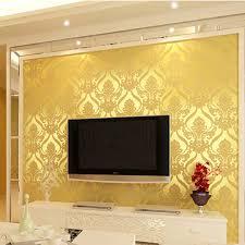 Wallpaper Livingroom by Aliexpress Com Buy H Grade Flocking Wallpaper Noble Golden