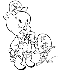 animations 2 coloring pages looney tunes