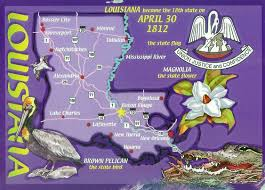 Louisiana State Map detailed tourist illustrated map of louisiana state vidiani com