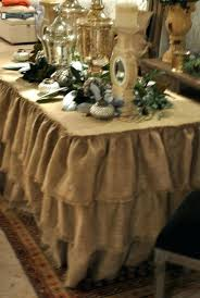 burlap table linens wholesale 90 round havana table linen round ruffled burlap tablecloth faux