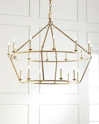 Ring Chandelier Visual Comfort Darlana Large Two Tiered Ring Chandelier Neiman