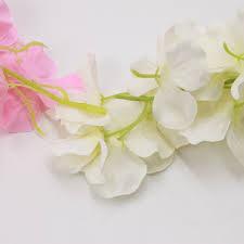 artificial flower decoration for home 1pcs rattan strip wisteria artificial flower vine for wedding home