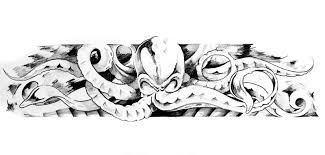 sketch of tatto art octopus stock image image 17128841