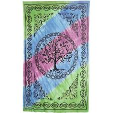 tree of life home decor tree of life tie dye cotton full size bedspread pagan wicca celtic