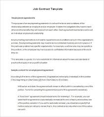 11 job contract templates u2013 free word pdf documents download