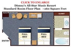 summer bay resort orlando floor plan photo tour of a standard room at disney u0027s all star music resort